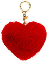 MICHAEL Michael Kors Fur Heart Pom Pom Key Chain