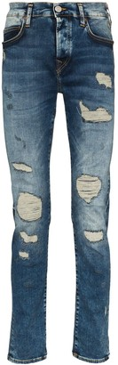 True Religion Roco distressed slim-fit jeans