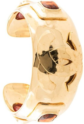 Chanel Pre Owned Stone Embellished Bangle
