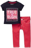 True Religion Short Sleeve Tee & Pants Set (Baby Girls)