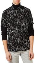 Topman Men's Classic Fit Floral Shirt
