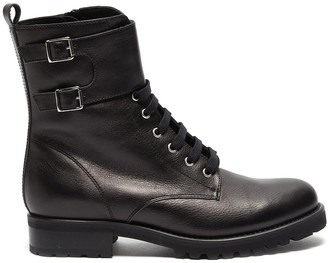 Fabio Rusconi 'Goldy' lace up leather biker boots
