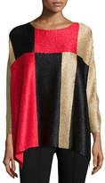 Berek Divide & Conquer 3/4-Sleeve Crinkled Tunic, Petite