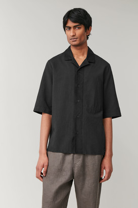 Cos Camp Collar Organic Cotton-Linen Shirt