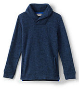 Lands' End Toddler Boys Shawl Collar Pull Over-Deep Sea Marl