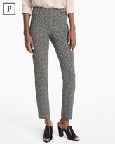 White House Black Market Petite Body-Defining Ankle-Grazing Printed Pants