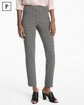 White House Black Market Petite Body-Defining Ankle-Grazing Printed Pants