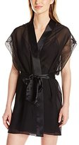 Calvin Klein Women's Black-Endless Robe