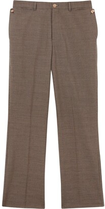 Burberry Pocket Detail Wool Tailored Trousers
