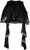 Ellery cropped ruffle blouse - women - Cotton/Spandex/Elastane - 6