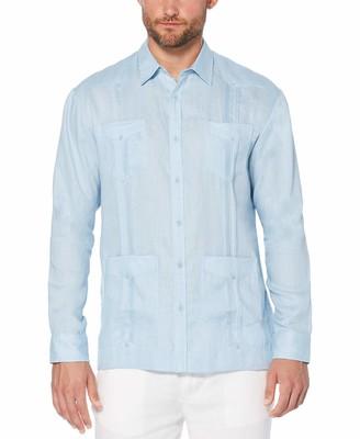 Cubavera Men's Long Sleeve 100% Linen Guayabera Shirt
