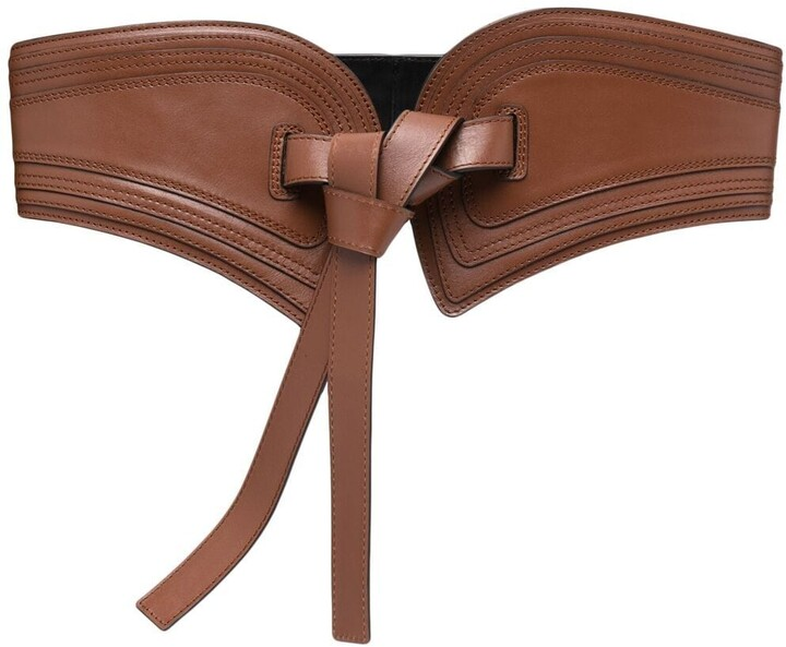 Thumbnail for your product : Zimmermann Tie-Fastening Leather Belt