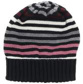 Missoni Black/pink Knitted Beanie Wool Blend Hat.