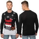 Loyalty And Faith Mens Christmas Jumper Novelty Knitted Fat Santa Xmas Sweater Top