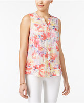 NY Collection Petite Printed Blouse