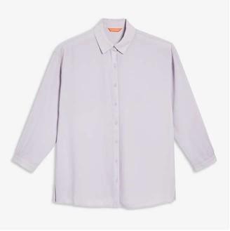 Joe Fresh Women's Crepe Shirt, Light Lilac (Size M)