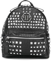 Philipp Plein studded backpack - kids - Leather/metal - One Size
