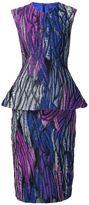 Christian Siriano peplum waist dress - women - Polyester - 6