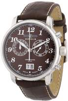 Zeppelin Men's Chronograph Watch 76843 With Big Date And Brown Dial