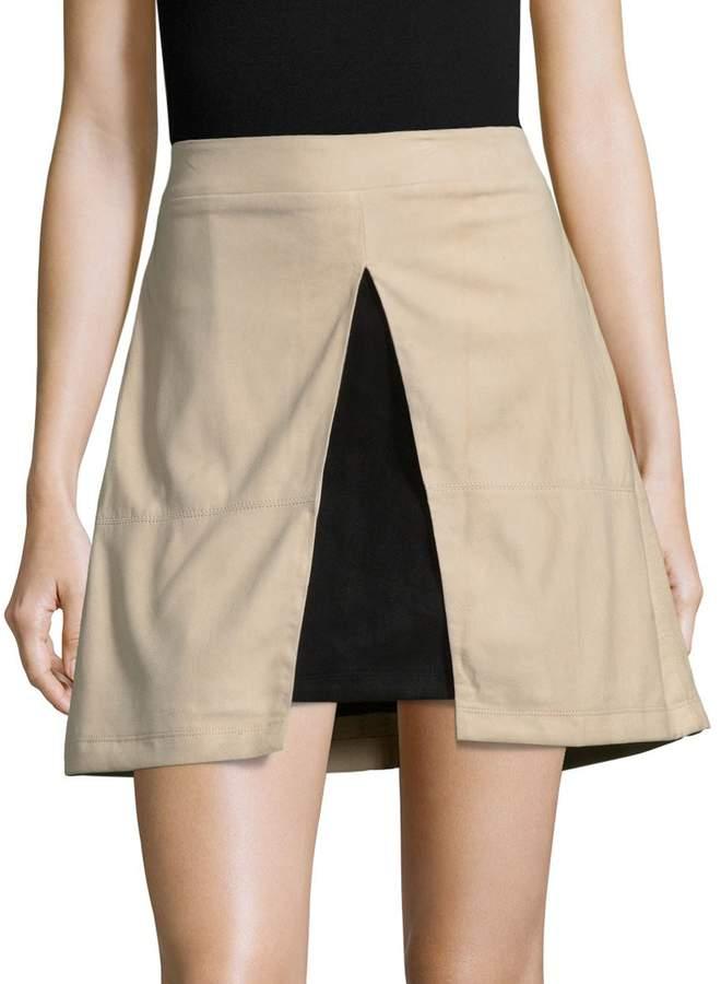 Alice + Olivia Women's Daysi Leather Mini Skirt