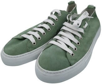 DSQUARED2 Green Suede Trainers
