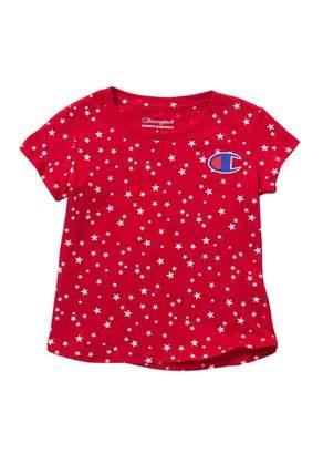 Champion Star Print C-Patch T-Shirt (Toddler & Little Girls)