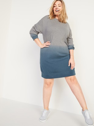 Old Navy Specially Dyed French Terry Plus-Size Sweatshirt Shift Dress