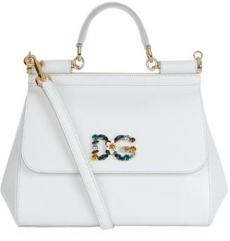 Dolce & Gabbana Medium Leather Iguana Print Sicily Bag