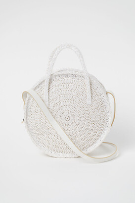 H&M Round Straw Bag - White