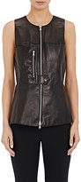 3.1 Phillip Lim WOMEN'S LEATHER ZIP-FRONT VEST