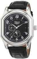 Trias men's Automatic Watch Analogue Display and Leather Strap T21400S
