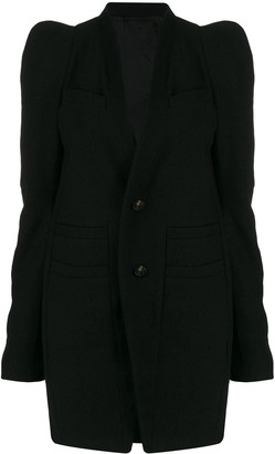 Rick Owens Textured Single-Breasted Coat