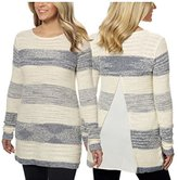 Calvin Klein Women's Chiffon Back Sweater