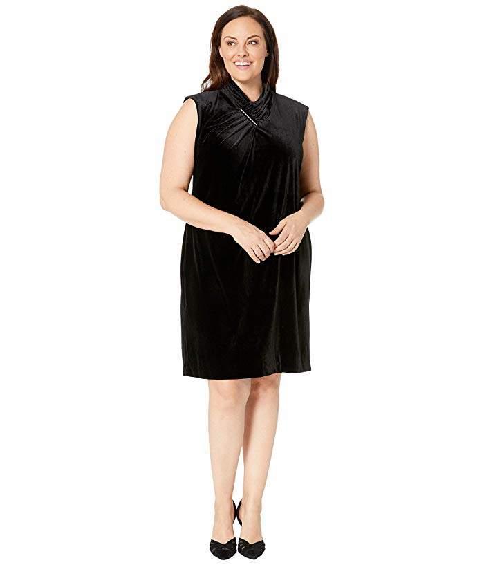 Plus Size Velvet Dress - ShopStyle