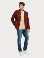 Scotch & Soda Suede Colour Block Shirt Jacket