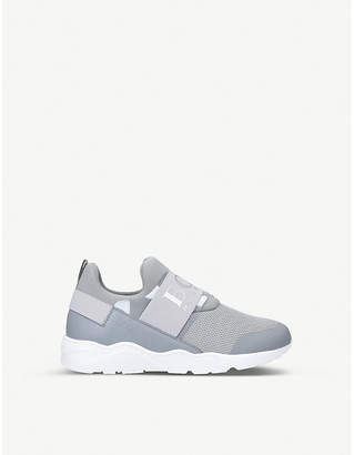 HUGO BOSS BOSS BY Logan low-top neoprene and mesh trainers