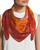 Mila Louise & Such Caly Flower Square Silk Scarf, 100cm