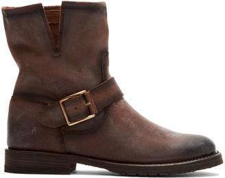 Frye Women's Casual boots DARK - Dark Brown Natalie Engineer Short Leather Boot - Women