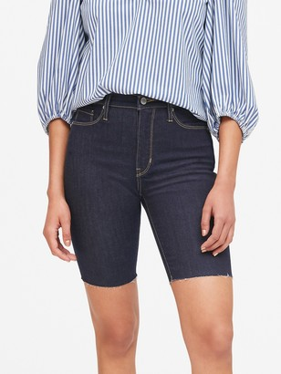 "Banana Republic Petite High-Rise 9"" Denim Short"