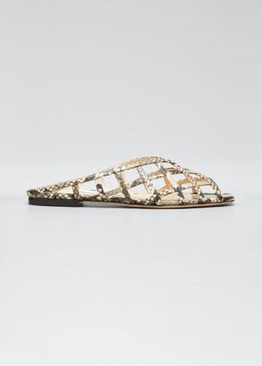 Jimmy Choo Sai Woven Caged Slide-Sandals