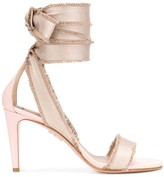 RED Valentino lace up ankle detail 95mm sandals