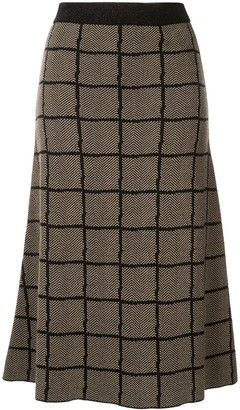 Antonio Marras Checked Midi Skirt
