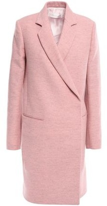 Victoria Beckham Double-breasted Melange Brushed Wool-felt Coat