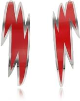DSQUARED2 Brass and Red Enamel Thunder Earrings