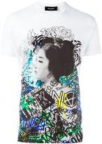 DSQUARED2 graffiti geisha print T-shirt - men - Cotton - S