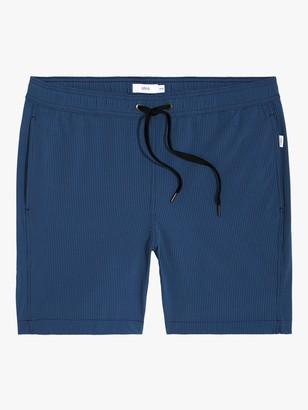 Onia Charles 7 Micro Stripe Swim Shorts, Deep Navy