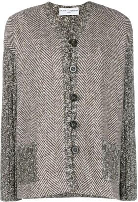 Dolce & Gabbana Pre-Owned Herringbone Buttoned Jacket