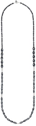 Anna Beck Sterling Silver Hematite Beaded Long Necklace