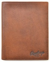 Rawlings Sports Accessories Men's Triple Play Leather Executive Wallet - Brown