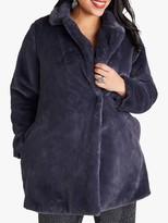 Yumi Curves Fur Collar Jacket, Grey